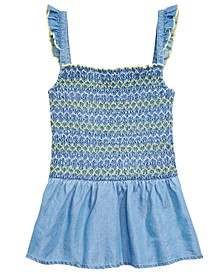Big Girls Embroidered Smocked Top, Created for Macy's