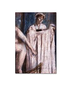"""Degas 'Toilette After The Bath' Canvas Art - 19"""" x 12"""" x 2"""""""