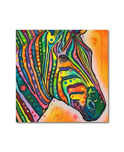 "Trademark Global Dean Russo 'Zebra' Metal Art - 16"" x 16"" x 0.125"""