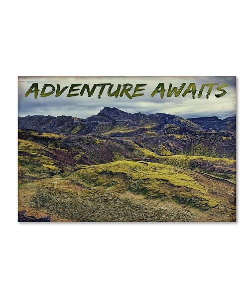"Trademark Global Cora Niele 'Adventure Awaits' Canvas Art - 24"" x 16"" x 2"""