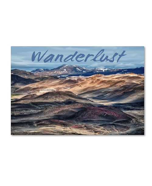 "Trademark Global Cora Niele 'Wanderlust' Canvas Art - 19"" x 12"" x 2"""