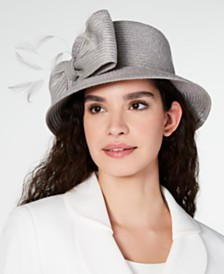 August Hats Metallic Bow Cloche, Created for Macy's