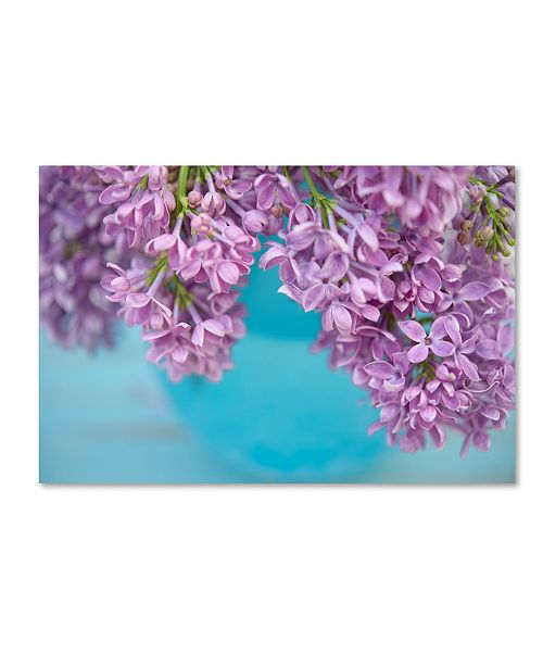 "Trademark Global Cora Niele 'Lilacs In Blue Vase V' Canvas Art - 32"" x 22"" x 2"""