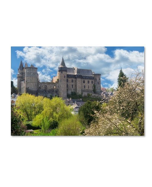"""Trademark Global Cora Niele 'The Castle Of Vitre In Spring' Canvas Art - 19"""" x 12"""" x 2"""""""