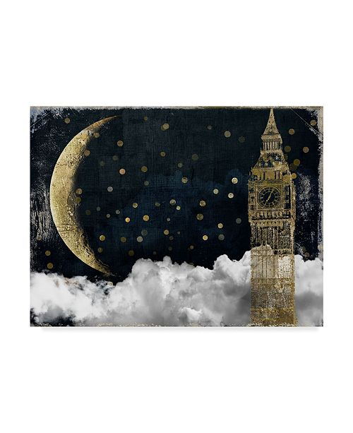 "Trademark Global Color Bakery 'Cloud Cities London' Canvas Art - 19"" x 14"" x 2"""