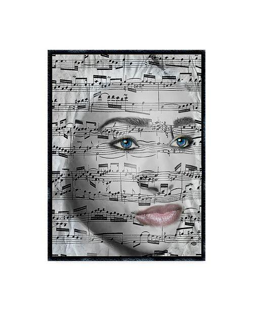 "Trademark Global Dana Brett Munach 'She Music' Canvas Art - 47"" x 35"" x 2"""