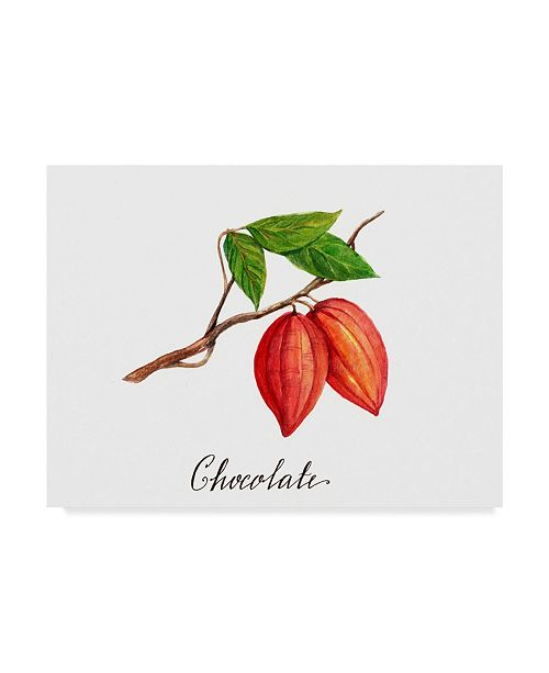 "Trademark Global Irina Trzaskos Studio 'Chocolate' Canvas Art - 47"" x 35"" x 2"""