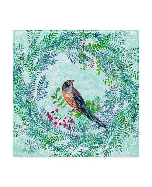 "Trademark Global Irina Trzaskos Studio 'Blue Bird Ii' Canvas Art - 18"" x 18"" x 2"""
