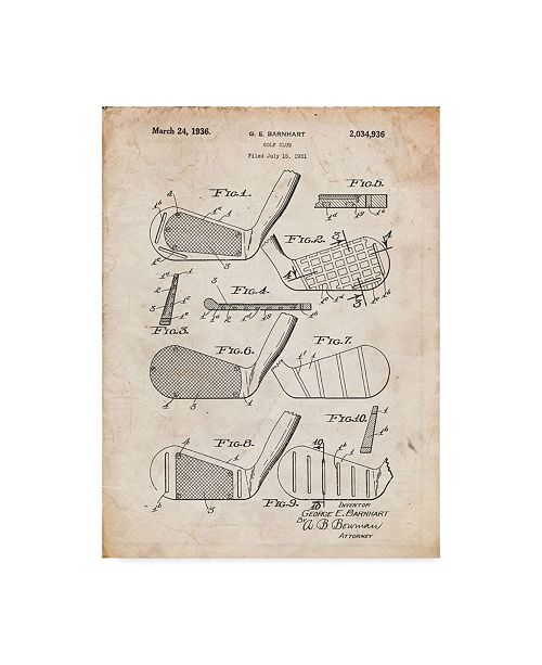 "Trademark Innovations Cole Borders 'Golf Club 2' Canvas Art - 19"" x 14"" x 2"""
