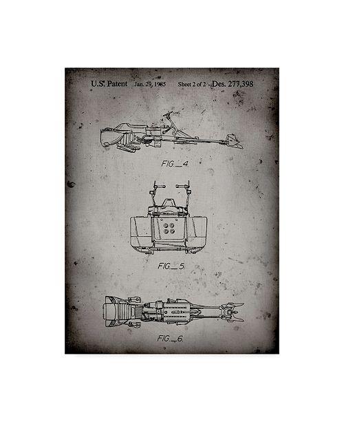 "Trademark Global Cole Borders 'Space Ship 8' Canvas Art - 19"" x 14"" x 2"""