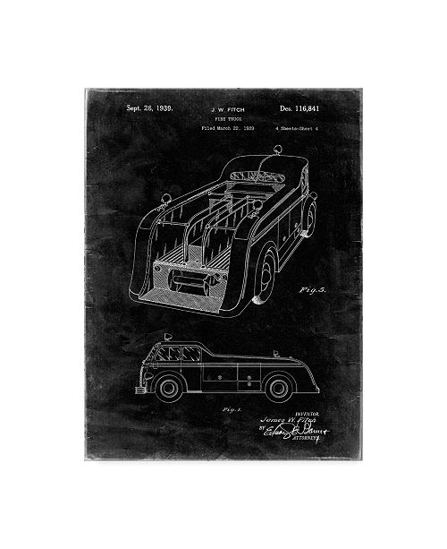 "Trademark Global Cole Borders 'Vintage Truck 1' Canvas Art - 19"" x 14"" x 2"""