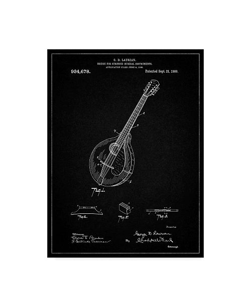 "Trademark Global Cole Borders 'Mandolin 1' Canvas Art - 47"" x 35"" x 2"""