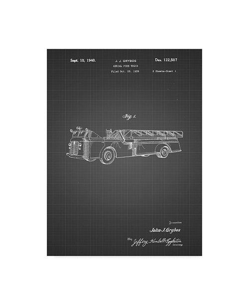"Trademark Global Cole Borders 'Vintage Truck' Canvas Art - 19"" x 14"" x 2"""