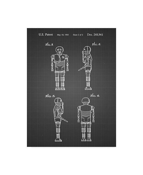 "Trademark Global Cole Borders 'Star Wars Medical Droid 1' Canvas Art - 47"" x 35"" x 2"""