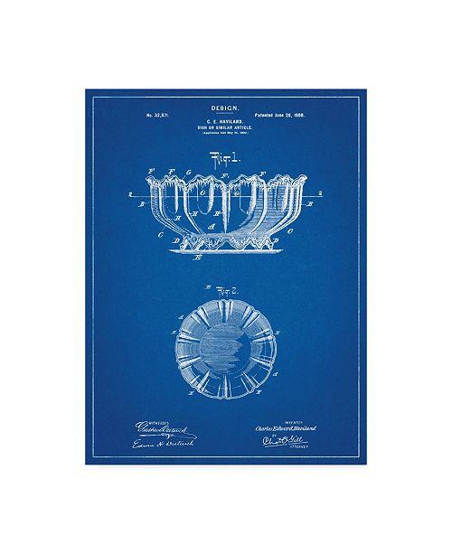 "Trademark Innovations Cole Borders 'Haviland Decorative Bowl' Canvas Art - 47"" x 35"" x 2"""