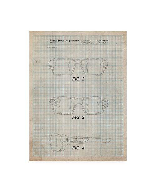 "Trademark Global Cole Borders 'Oakley Crankcase Sunglasses' Canvas Art - 24"" x 18"" x 2"""
