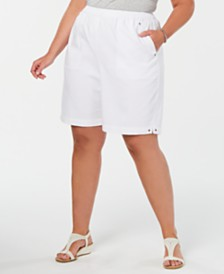 Alfred Dunner Plus Size Waikiki Pull-On Shorts
