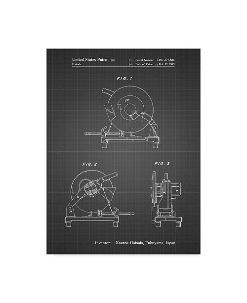 "Trademark Innovations Cole Borders 'Chop Saw' Canvas Art - 24"" x 18"" x 2"""