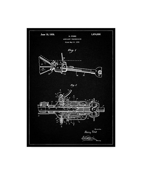"Trademark Innovations Cole Borders 'Ford Auxiliary Transmission' Canvas Art - 32"" x 24"" x 2"""