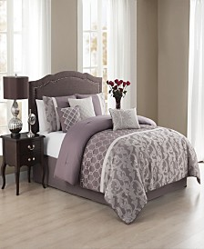 Mira 7 Pc Queen Jacquard Comforter Set