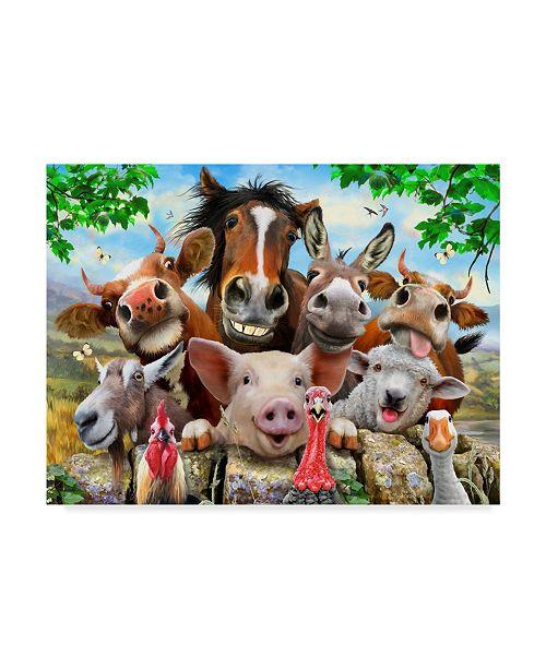 "Trademark Global Howard Robinson 'Happy Farm' Canvas Art - 19"" x 14"" x 2"""