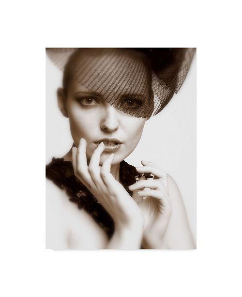 "Trademark Global David Minster 'Black Veil' Canvas Art - 24"" x 2"" x 32"""