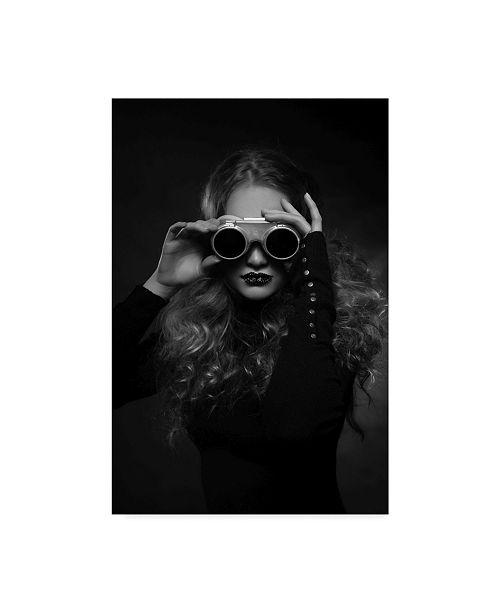 "Trademark Global Denisa Justusova Sumcova 'Black Goggles' Canvas Art - 22"" x 2"" x 32"""