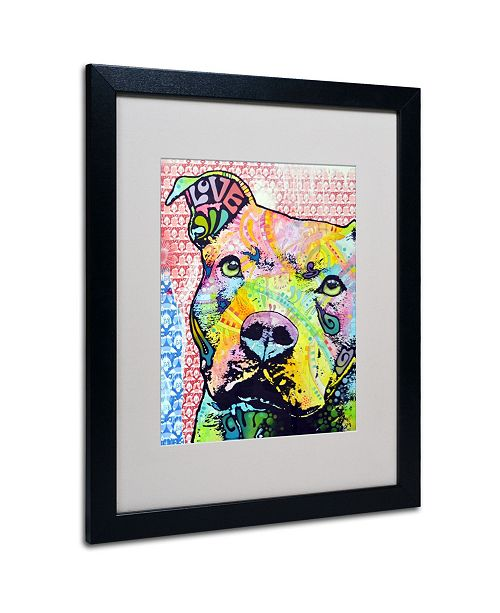 "Trademark Global Dean Russo 'Thouthful Pittbull II' Matted Framed Art - 20"" x 16"" x 0.5"""