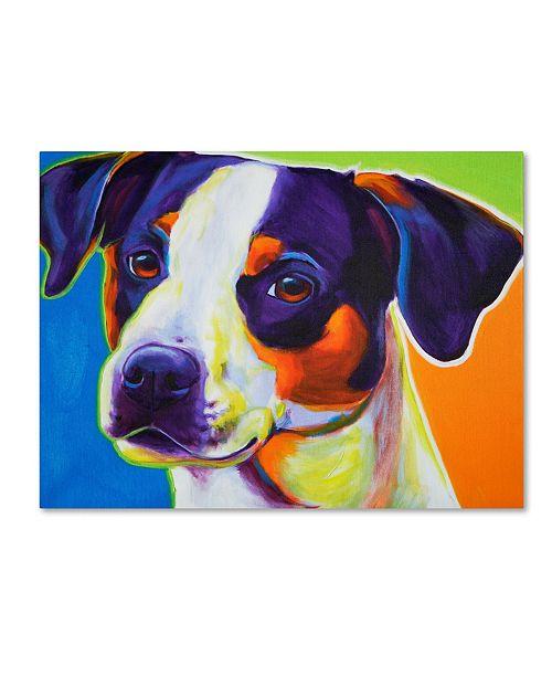 "Trademark Global DawgArt 'Lady Baillee' Canvas Art - 18"" x 24"" x 2"""