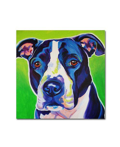 "Trademark Global DawgArt 'Sadie' Canvas Art - 14"" x 14"" x 2"""