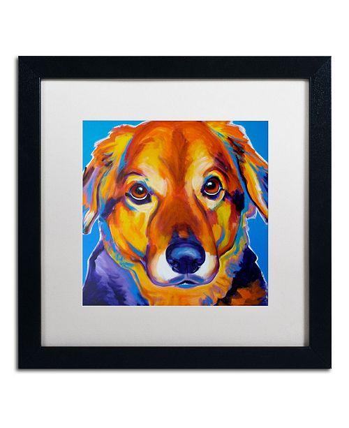"Trademark Global DawgArt 'Riley Square' Matted Framed Art - 16"" x 16"" x 0.5"""
