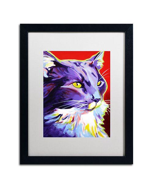 """Trademark Global DawgArt 'Cat Kelsier' Matted Framed Art - 20"""" x 16"""" x 0.5"""""""