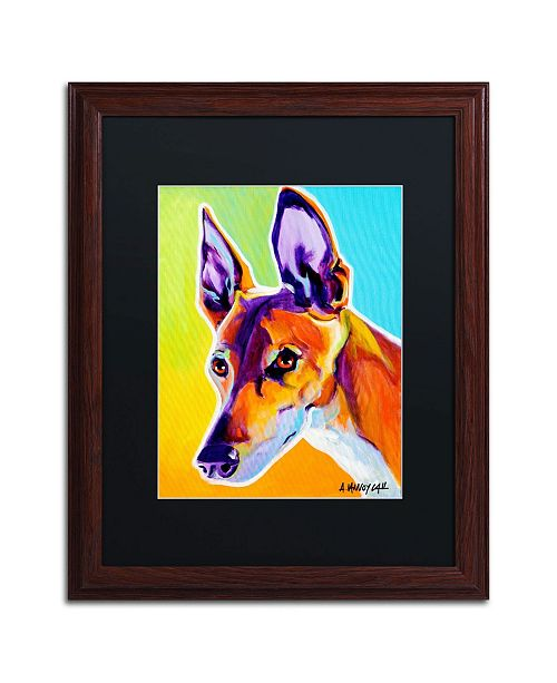 """Trademark Global DawgArt 'Pharoah Hound Linus' Matted Framed Art - 16"""" x 20"""" x 0.5"""""""