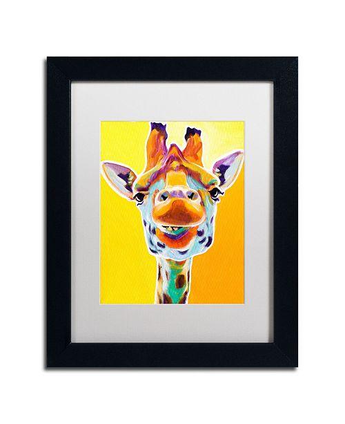 """Trademark Global DawgArt 'Giraffe No. 3' Matted Framed Art - 14"""" x 11"""" x 0.5"""""""