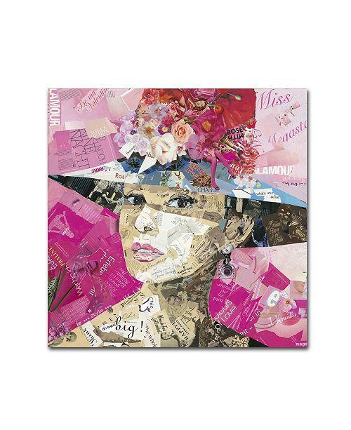 """Trademark Global Ines Kouidis 'Girl Next Door' Canvas Art - 18"""" x 18"""" x 2"""""""
