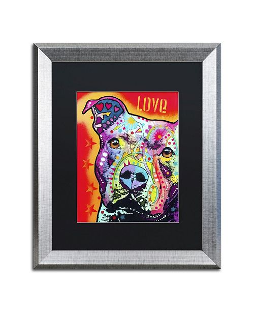 "Trademark Global Dean Russo 'Thoughtful Pitbull' Matted Framed Art - 20"" x 16"" x 0.5"""