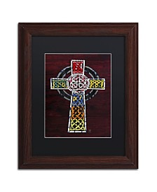 """Design Turnpike 'Celtic Cross' Matted Framed Art - 14"""" x 11"""" x 0.5"""""""