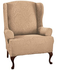 Floral Wing chair Stretch  Slipcover