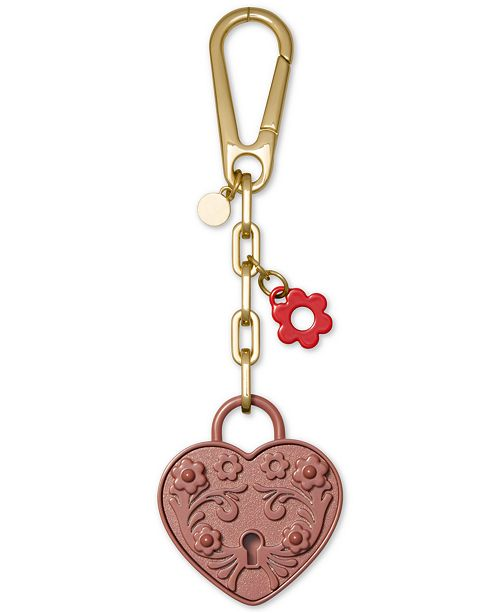 Michael Kors Metal Heart Lock Charm
