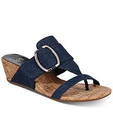 Impo Geena Hidden Thong Wedge Sandals