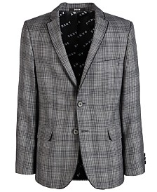 DKNY Big Boys Plaid Sport Coat