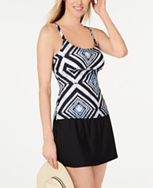 Island Escape Push-Up Tankini Top & Swim Skirt, Created for Macy's