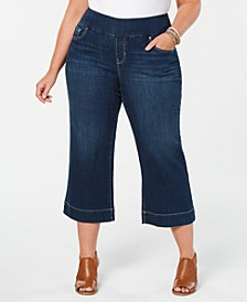 Plus Size Wide-Leg Capri Jeans, Created for Macy's