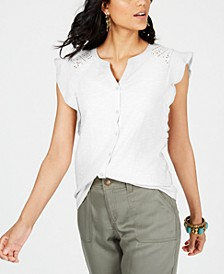 Eyelet Sleeveless Shirt, Created for Macy's