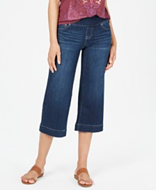 Style & Co Petite Wide-Leg Capri Jeans, Created for Macy's