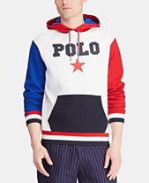 174a2715 Polo Ralph Lauren Men's Big & Tall Star-Print Double-Knit Americana Hoodie
