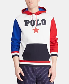 Polo Ralph Lauren Men's Big & Tall Star-Print Double-Knit Americana Hoodie