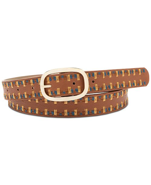 INC International Concepts I.N.C. Laced Edge Belt, Created for Macy's