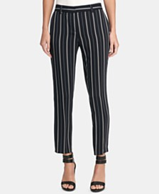 DKNY Essex Pinstriped Ankle Pants