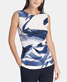 DKNY Twisted-Front Top